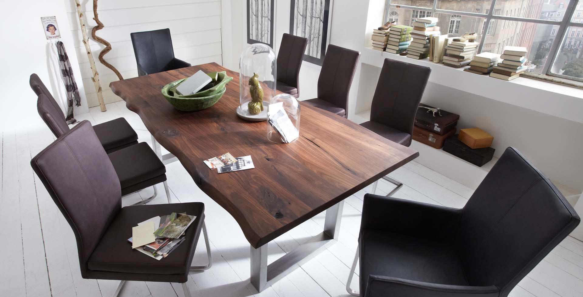 Drewniany Stół Z Metalowymi Nogami Rama Metalowa Tc Meble