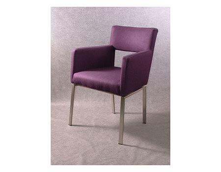 Fiesta krzesło z metalowymi nogami fioletowe