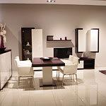 Fiesta nowoczeny salon krzesła metalowe skórzane