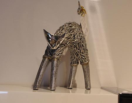figurka ozdobna kot figurka kota metalowa