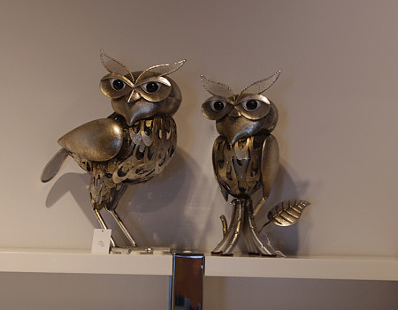 figurka ozdobna sowa metalowe sowy figurki