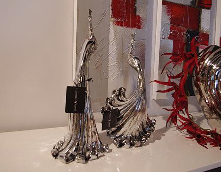 figurka paw pawie metalowe figurki