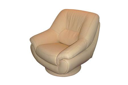 Fiord fotel skórzany kremowy