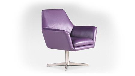 foteliki fioletowy fotel obrotowy skórzany noga metalowa