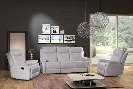 Fresco - komplet wypoczynkowy sofa z funkcją relax + fotele z relaksem