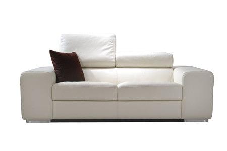 galaxy biała nowczesna sofa z poduszką