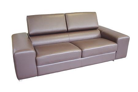 galaxy sofa dwuosobowa ze skóry brązowa