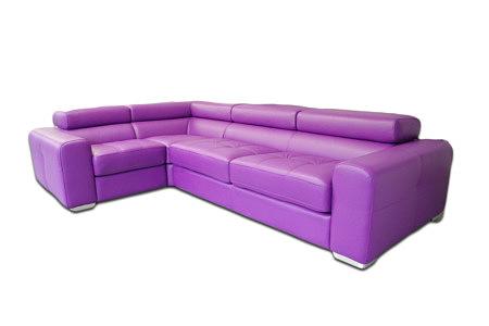 galaxy sofa narożnik w kolorze fioletowym