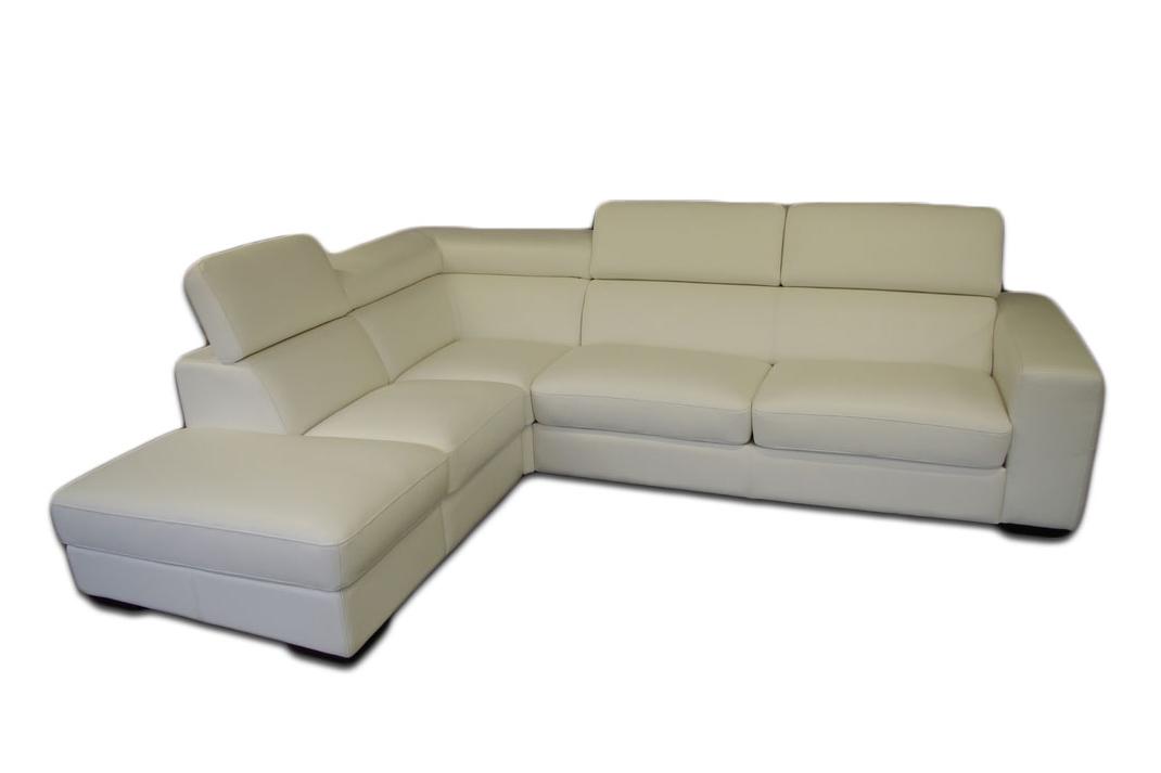 genesis biały narożnik sofa z zagłówkami