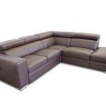 Genesis brązowa sofa skórzana narożnik
