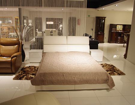 Genesis duże łóżko do sypialni białe