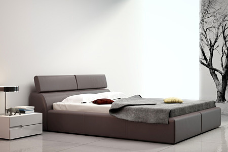 Genesis duże łóżko do sypialni z zagłówkiem