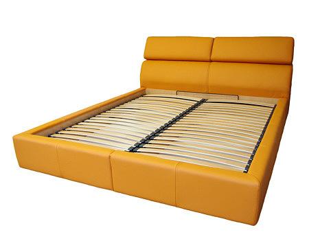 genesis łóżko do sypialni kolor pomarańczowy