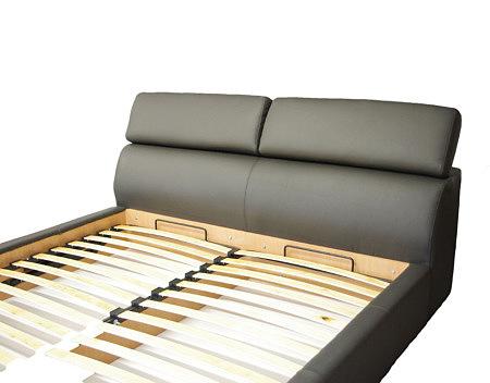 Genesis łóżko do sypialni szare