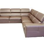 Genesis narożnik sofa brązowa skóra