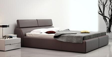 genesis nowoczesne duże łóżko do sypialni z zagłówkiem