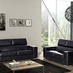 genesis sofa skórzana czarna