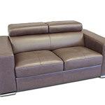 Genesis sofa skórzana dwuosobowa brązowa