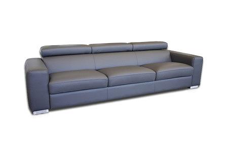 Genesis sofa trzyosobowa skóra szara