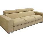 Genesis trzyosobowa sofa z zagłówkami obicie carabu