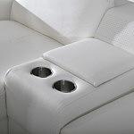 Genua biała sofa uchwyty na napoje