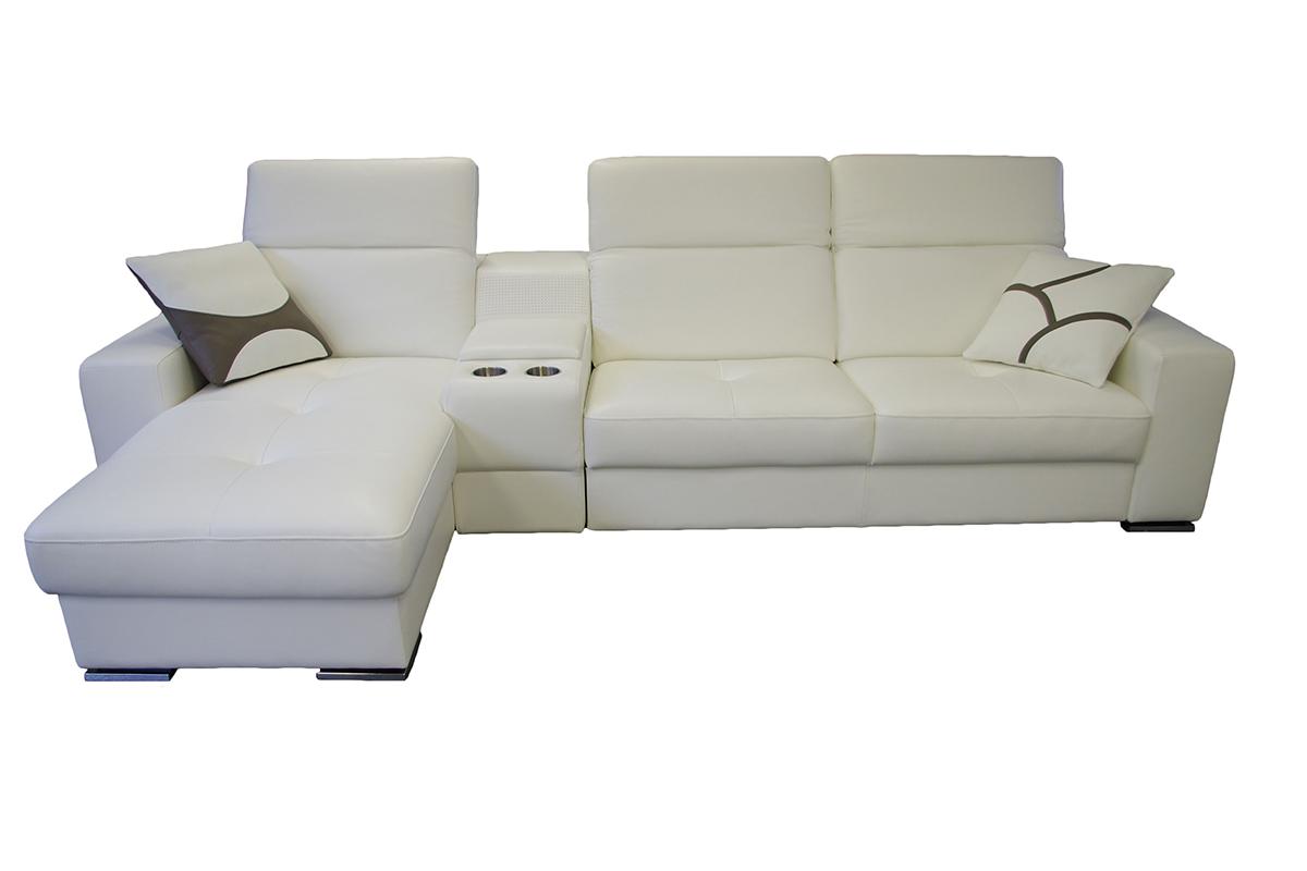 genua nowoczesna sofa skórzana z głośnikami