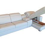 Genua sofa narożnik z funkcją spania biała