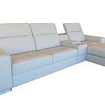 Genua sofa skórzana z funkcją spania