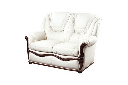 Innes sofa stylowa z elementami drewnianymi