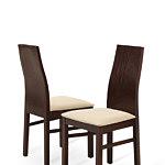 Jasiek krzesła z pełnym drewnianym oparciem do nowoczesnego salonu