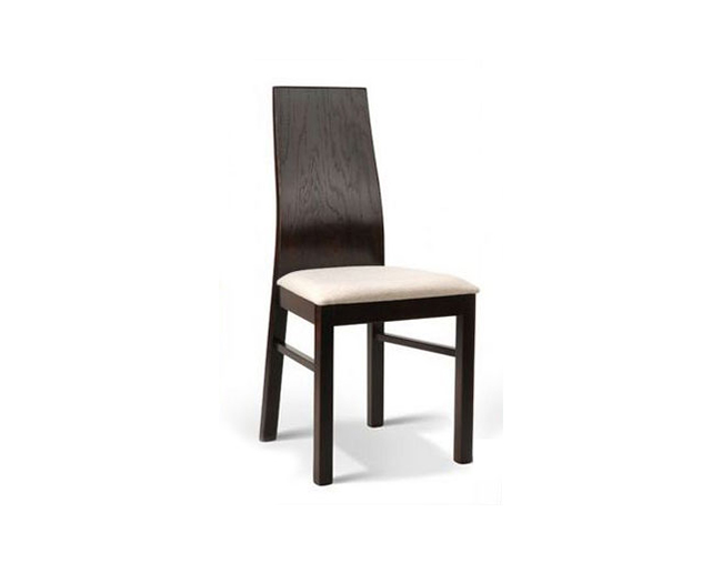Jasiek krzesła drewniane w salonie brązowe białe siedziska