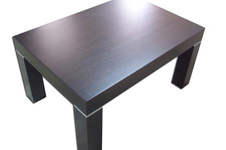 kalifornia stół drewniany wstawki metalowe kolor wenge
