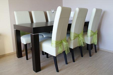 kalifornia stół rozkładany białe krzesła
