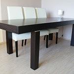 kalifornia stół z krzesłami kolor venge ciemny brąz