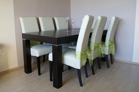 kalifornia stół z krzesłami okleina drewno dębowe