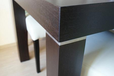 kalifornia wstawki metalowe w stole