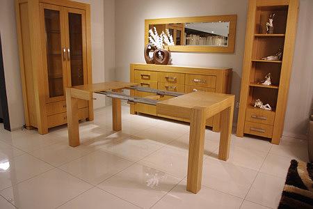 kanada duży stół rozłożony okleina dębowa