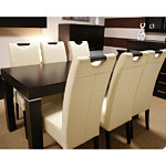 Kcomfort krzesła skórzane pełne oparcie dąb buk