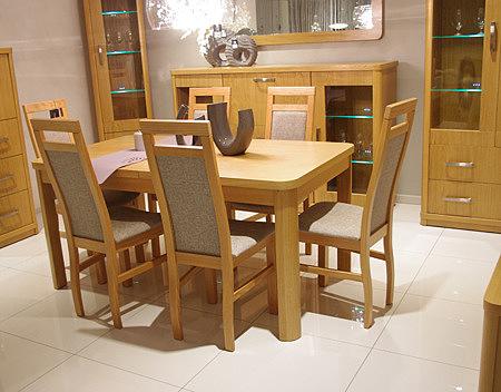 Ksara krzesła beżowe do jadalni drewniane nogi