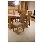 Ksara krzesła bukowe do jadalni obicie beżowa tkanina