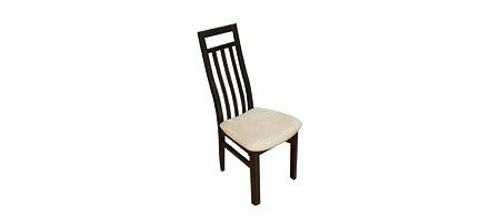 ksara2 krzesło drewniane ażurowe oparcie siedzisko beżowe