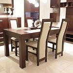 kvenus krzesła drewniane beżowe tapicerowane