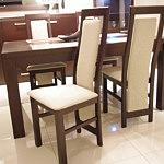 kvenus krzesła drewniane stół dębowy beżowe