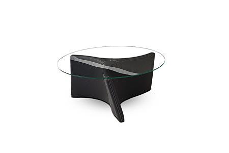 L08 stolik ława tapicerowana szklana ze szklanym blatem