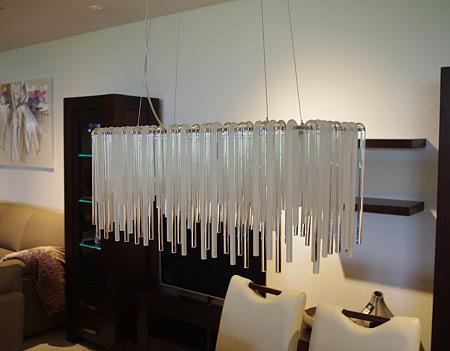 lampa z kryształów matowa