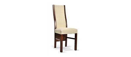 lisa krzesło drewniane z pełnym oparcim kremowa skóra