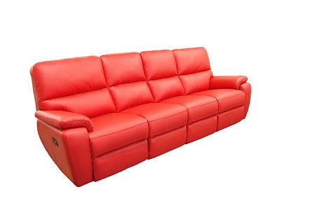 marco nowoczesna sofa z czerwonej skóry