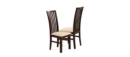 Milano brązowe krzesło do jadalni z eleganckim ażurowym oparciem