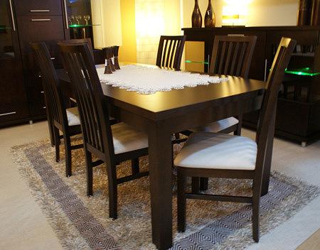 milano stół drewniany do salonu