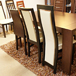 Milano2 krzesło drewniane oparcie ze skóry